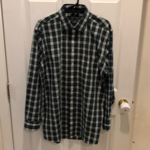 Stafford Other - NWOT Men's Size 17 34/35 Plaid Button Down Shirt